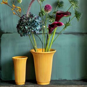 Bilde av Vase Daisy h25 cm glasert gul
