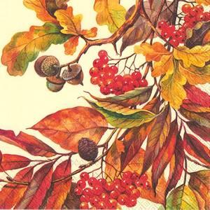 Bilde av Fall Colors Cream servietter lunch